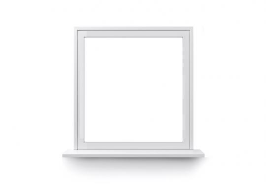Feststehendes Fenster weiß
